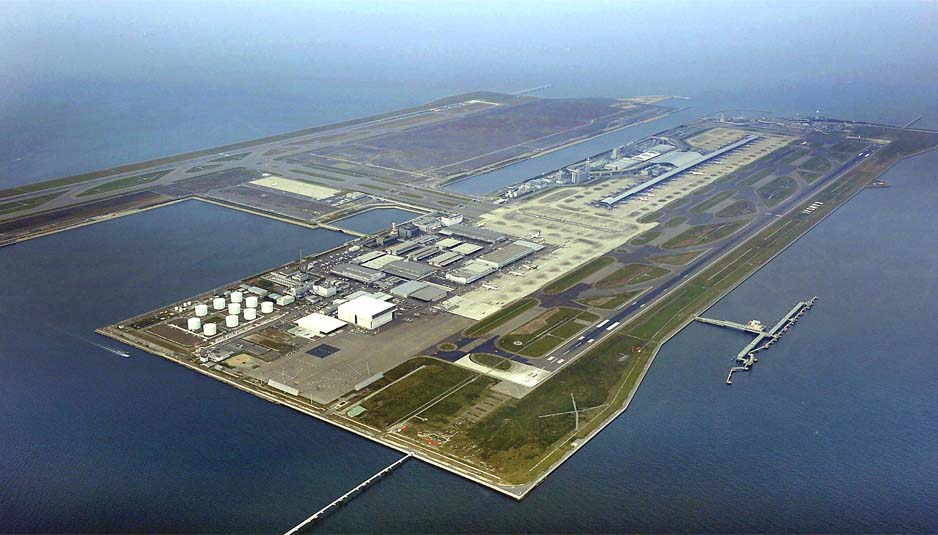 Aeroporto Kyoto : Kansai international airport smart island project close