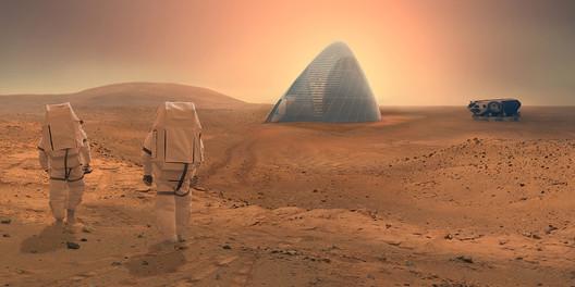 Casa costruita su Marte con stampante 3D, Credits:images.adsttc.com/