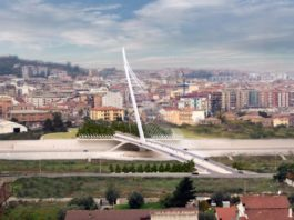 Ponte di Calatrava a Cosenza, l'antenna più alta d'Europa