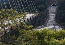 dettaglio ponte crollato colombia